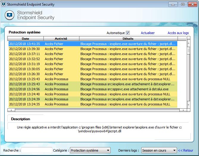 Stormshield Endpoint Security: protections contre les exploitations de vulnérabilité par corruption de la mémoire